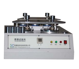 China 4 Station Martindale Abrasion Testing Machine For Fabric / Textile / Rubber And Leather supplier
