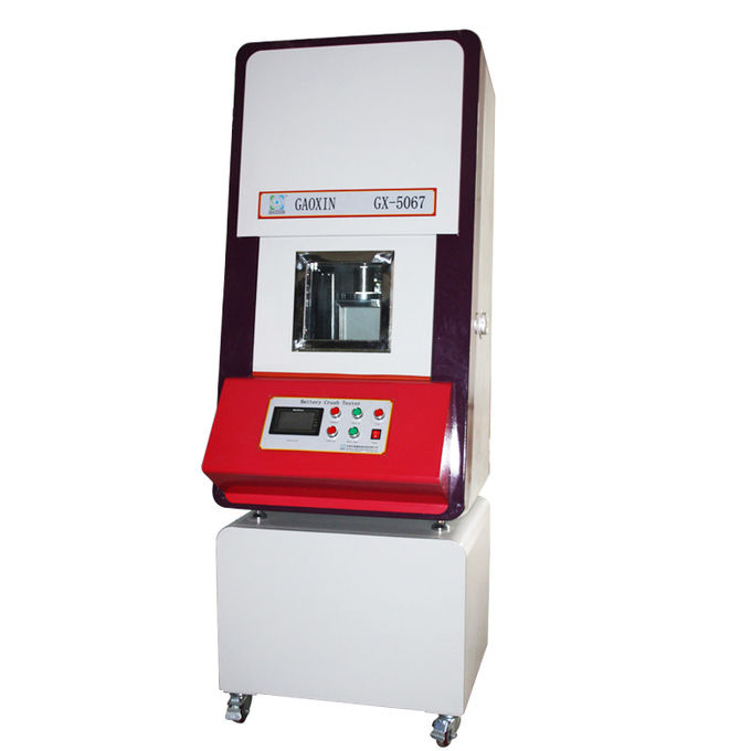 Hydraulic Pressure PLC Integrated Control 13 KN Normal Temperature Type 18650 Lab Tester Battery Crush Test Equipment