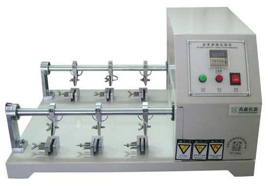 Flexing Resistance Testing Machine , Leather Crumpling Resistance Tester Six Station